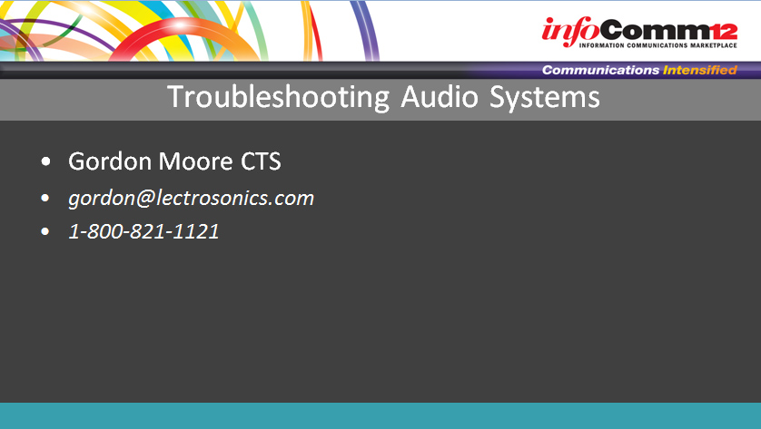 TroubleshootingAudioSystems