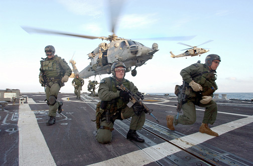 US Navy SEALSs in action with Lectrosonics gear