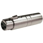 Lectrosonics Polarity-reversing XLR barrel adapter used with HM and UH400 transmitters