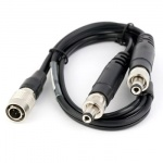 "Lerctrosonics PS2200A - Power cable, 12"", Hirose4 to dual LZR"