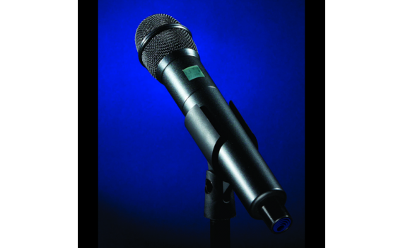 HH Handheld Transmitter With Blue Background