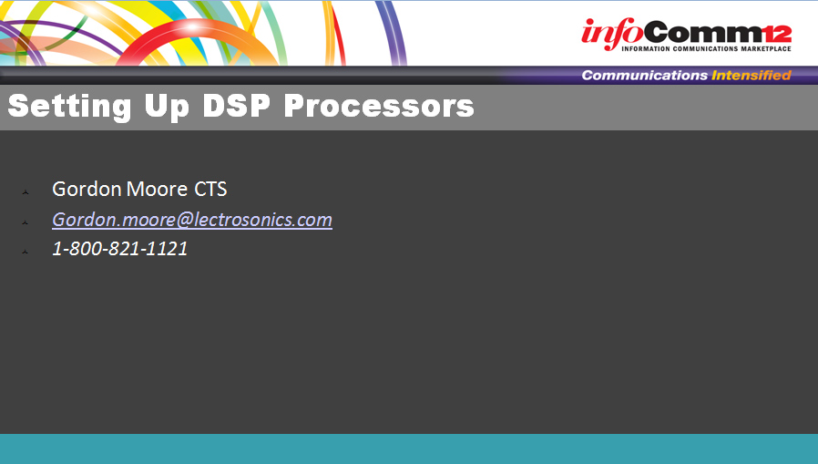 Setting Up DSP Processors | Powerpoint Tutorials | Training