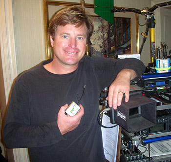 Coleman Metts with a  Super Miniature SM Lectrosonics Transmitter.