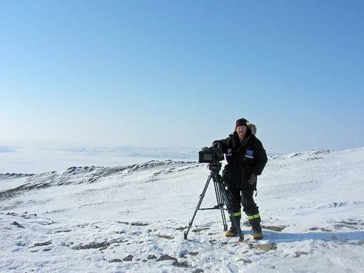 Doug Munro on location at the North Pole with Lectrosonics gear