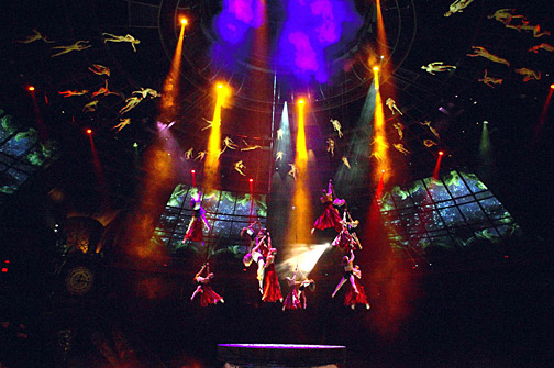 La Reve at The Wynn in Las Vegas using Lectrosonics test and mesuremnt system