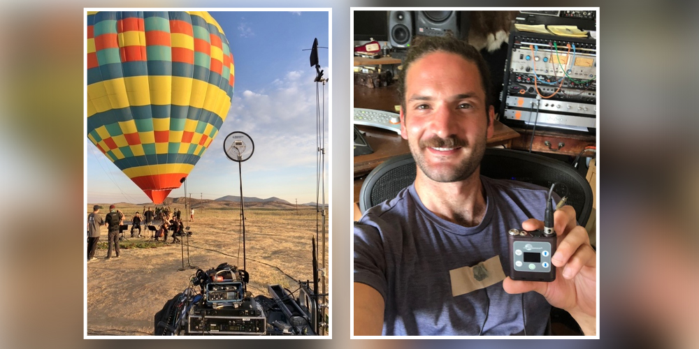 Sound Recordist Jack Goodman Takes Lectrosonics Skydiving with Rappers and Hot Air Ballooning on The Tonight Show