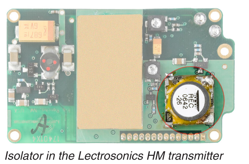 Isolator On A Lectrosonics HM Board